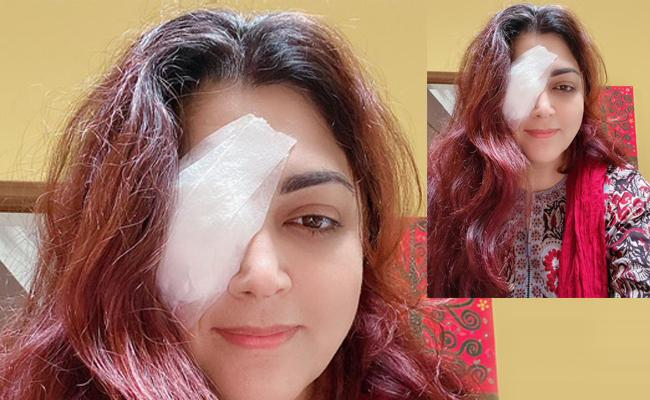 Kushboo Says She Was Inactive In Twitter For Some Days Due To Eye Injury - Sakshi