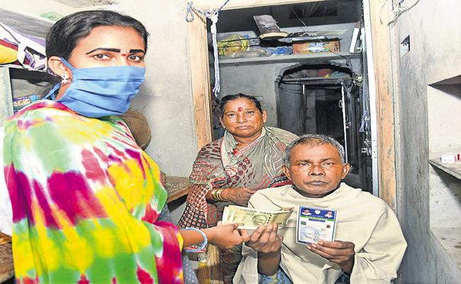 Pension Distribution Completed 97 per cent In A Single Day In AP  - Sakshi