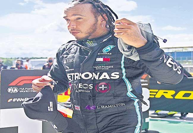 Lewis Hamilton Secured Pole Position In British Grand Prix - Sakshi