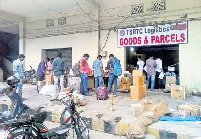 Additional Revenue For TSRTC Through Cargo Services In Telangana - Sakshi
