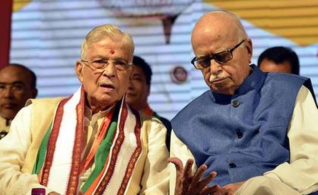 LK Advani and murali manohar Joshi may attend Bhumi puja via video conference - Sakshi
