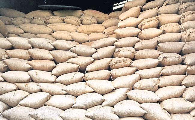 Paddy Grain Stock Stored Illegally At Wanaparthy Rice Mill - Sakshi
