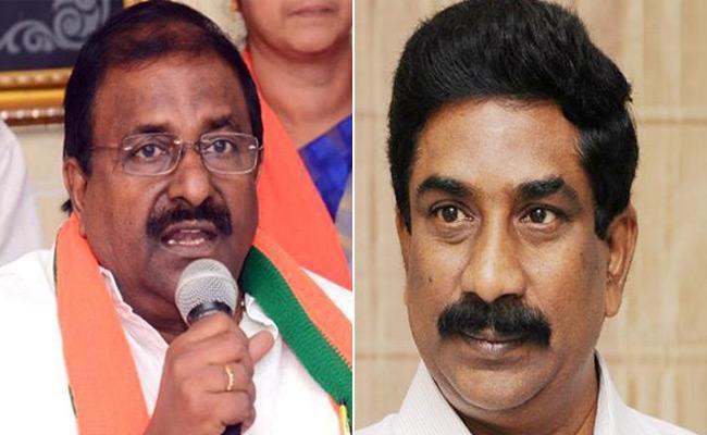 AP BJP President Somu Veerraju Satires On Andhra Jyothi Radha Krishna - Sakshi