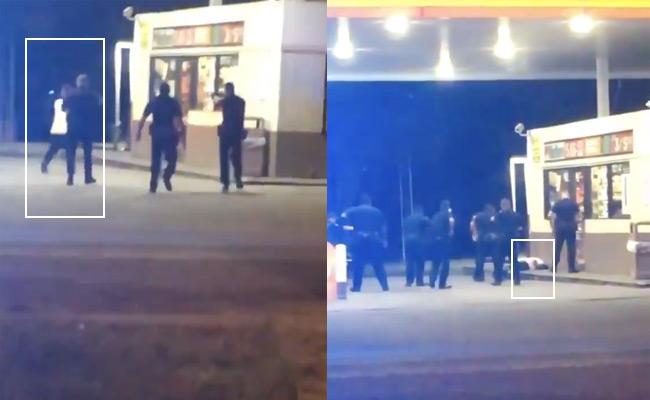 US Cops Caught On Cam Killing Black Man In Louisiana - Sakshi