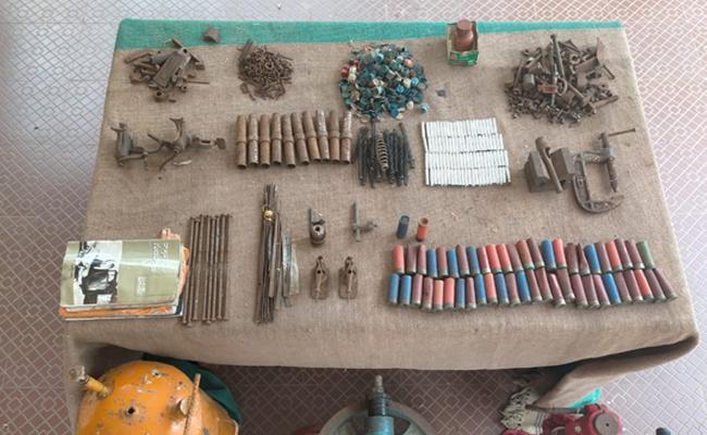 Maoist Dump Seized At AOB By BSF Police - Sakshi