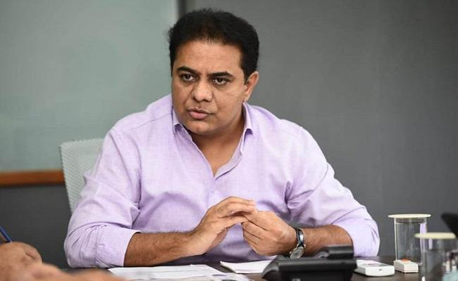 Ktr conducts review meeting with officers in Hyderabad - Sakshi