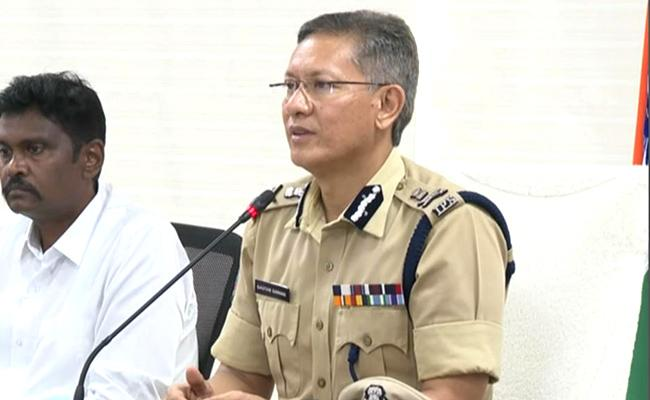 AP DGP Gowtham Sawang Video Conference With Police - Sakshi
