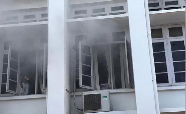 Political Row Over Fire At Kerala Secretariat Fire Accident - Sakshi