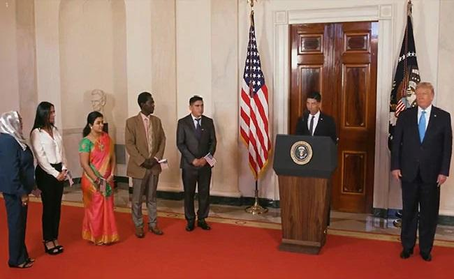 Sudha Sundari Narayanan Sworn In As US Citizen - Sakshi