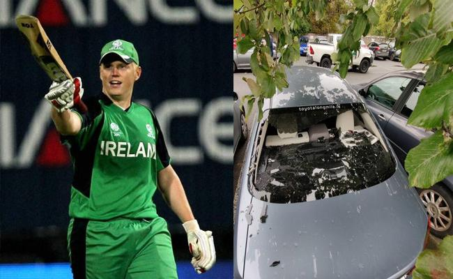 Kevin OBrien Smashes His Own Car Window With Massive Six Became Viral - Sakshi