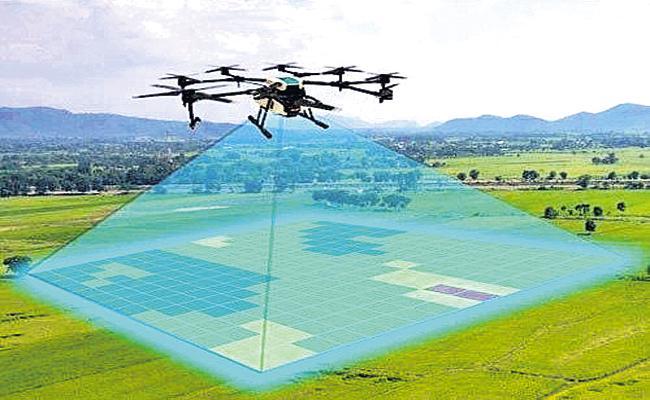 Survey with drones on the occupations of God lands - Sakshi