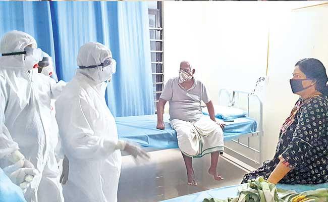 Etela Rajender Getting Information From Coronavirus Patient - Sakshi