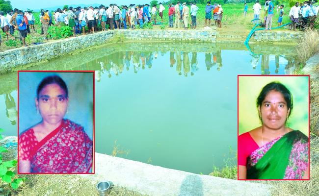 Two Women Farmers Deceased in Agriculture Pond in Khammam - Sakshi