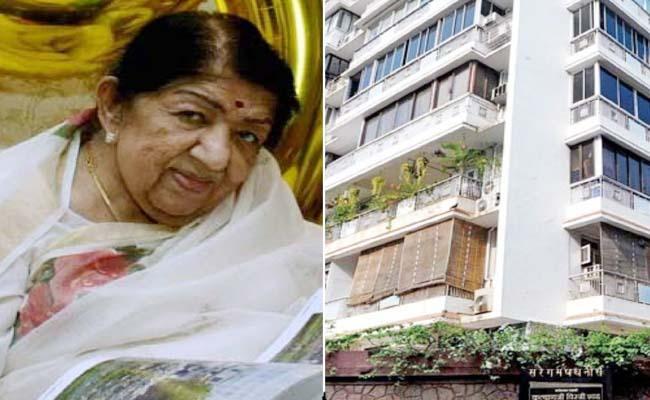 Lata Mangeshkar Building Sealed As Precaution Of Coronavirus - Sakshi