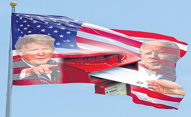 Donald Trump Continues Assault On Mail-In Votin - Sakshi
