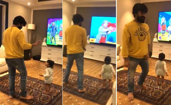 Ram Charan Dance With His Niece Naviska - Sakshi