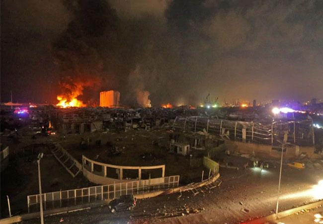 Powerful Explosion In Beirut Expire More Than 70, Injures Thousands - Sakshi