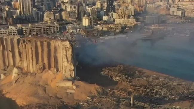 Beirut Explosion Aerial Footage - Sakshi