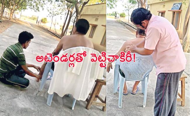 SDC vijay Kumar Using Attenders For Personal Work Prakasam - Sakshi