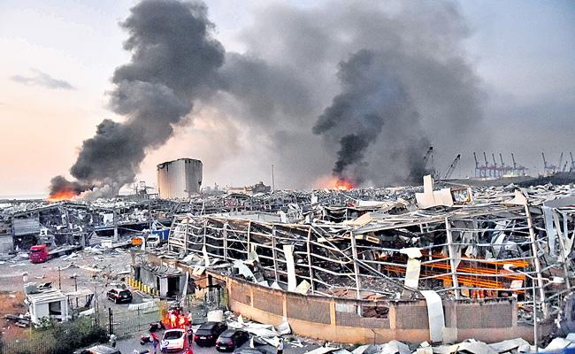 Beirut explosion death toll rises to 135 as 5000 wounded - Sakshi