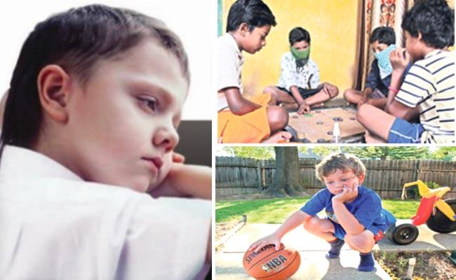 Children Are Restricted To Indoor Games At Home Due To The Corona - Sakshi
