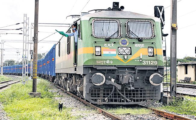 South Central Railway Started First Cargo Service In Telangana - Sakshi