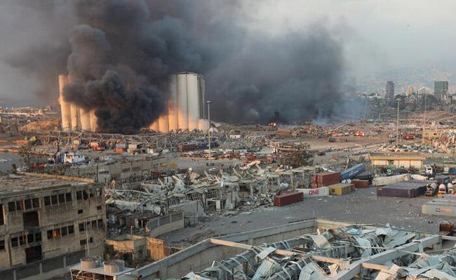 Beirut Explosion That Killed 135 As 5000 Wounded Port Director Arrested - Sakshi
