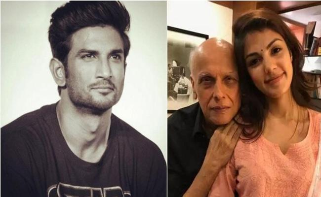 Rhea Chakraborty Called Mahesh Bhatt 16 Times In 1 year - Sakshi