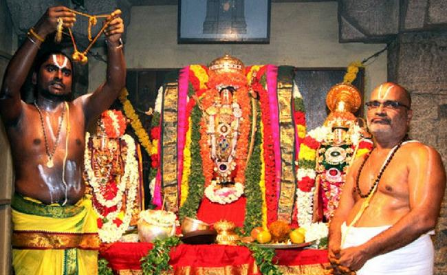 Srivari Kalyanotsavam seva begins in Online - Sakshi