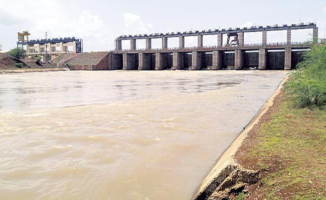 Potireddipadu canal system development works was started - Sakshi