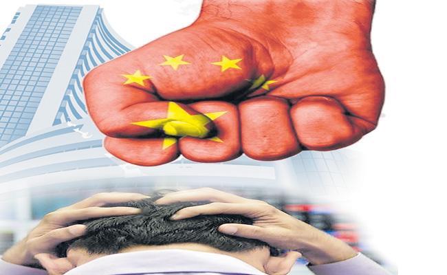Sensex crashes 800 points to end 2% lower on border tensions - Sakshi