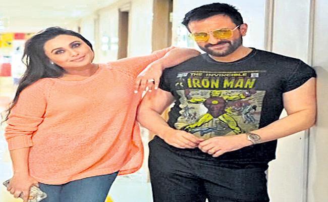 Saif Ali Khan AND Rani Mukerji wrap shooting for Bunty Aur Babli  - Sakshi