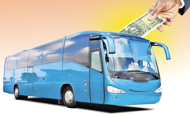 Brakes for high fares on private buses - Sakshi