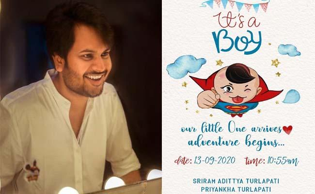 Telugu Director Sriram Adittya Blessed With Baby Boy - Sakshi