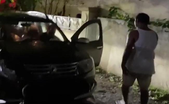 Serilingampally Corporator Nagendar Yadav Attacks On a Lady - Sakshi