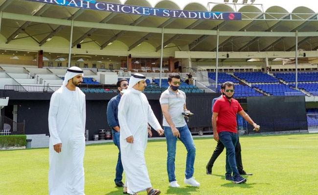 IPL 2020 : BCCI President Sourav Ganguly Visits Sharjah Cricket Stadium - Sakshi