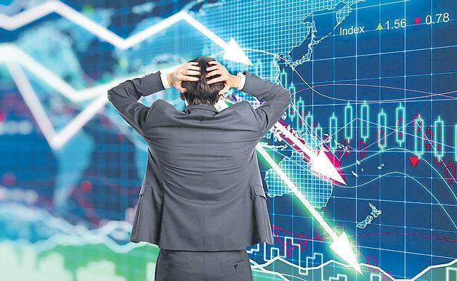 Sensex falls nearly 100 point and Nifty below 11,450 points - Sakshi