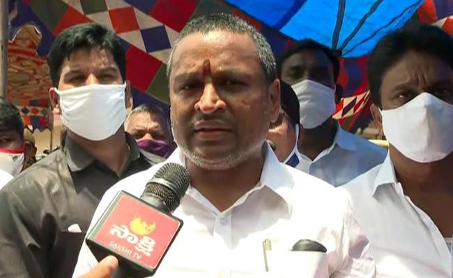 Minister Vellampalli Srinivas Slams Chandrababu - Sakshi