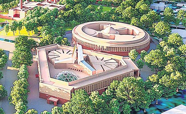 Tata Projects Ltd wins bid to construct new Parliament building - Sakshi