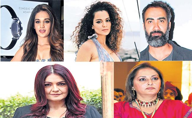 Bollywood celebrities comments on drugs and nepotism - Sakshi