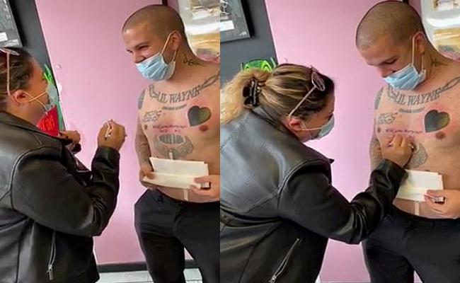 Man Marriage Proposal To Girlfriend By Tattoo On Chest - Sakshi