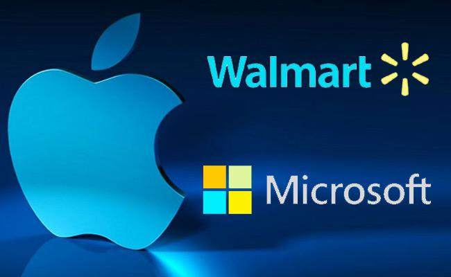 Apple, Walmart jumps- US Market new record - Sakshi
