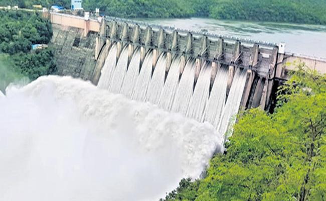 Flood flow in the Krishna River is increased  - Sakshi