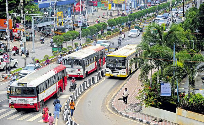 APSRTC Bus Services Started In Vijayawada and Visakhapatnam - Sakshi