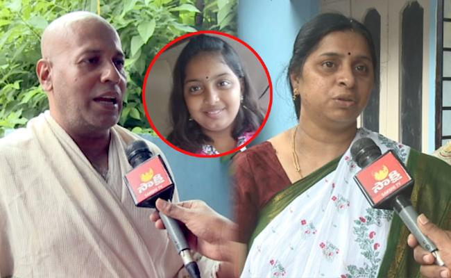 12 Year Girl Sumedha Parents Alleges GHMC Official Negligence - Sakshi