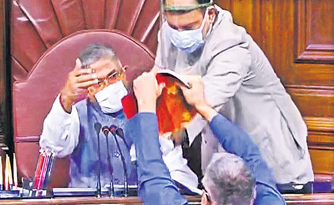Rajya Sabha passes two farm bills by voice vote - Sakshi