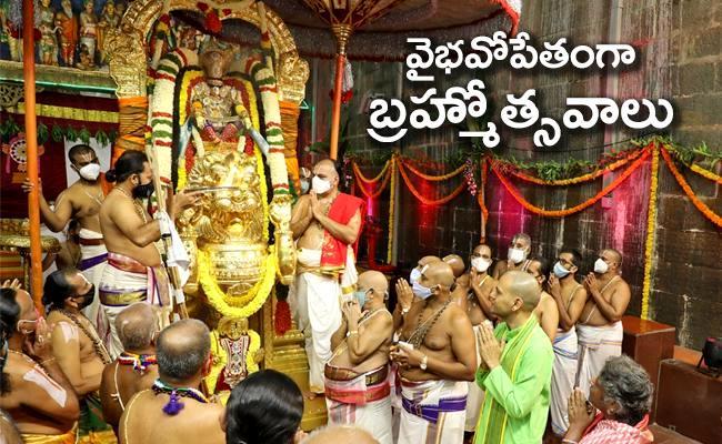 Tirumala Malayappa Swamy Darshan On Simha Vahanam - Sakshi