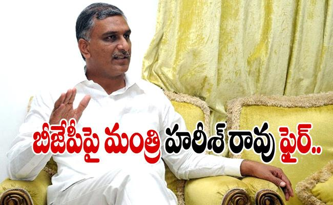 TRS Minister Harish Rao Fires On BJP - Sakshi