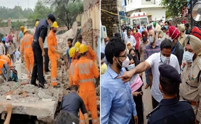 Three People Died In Building Collapsed in Punjab - Sakshi