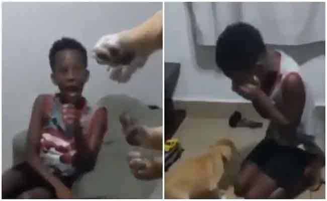 Little Boy Burst Into Tears After His Mother Surprises Him With Pet Dog - Sakshi